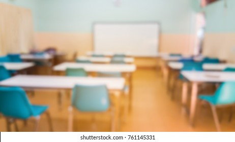 blurred image of empty classroom use for background