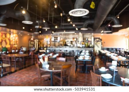 Blurred Image Empty Interior Thai Restaurant Stock Photo ...