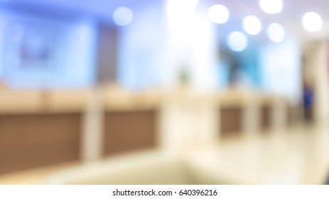 Blurred Image Of The Finance Counters In Hospital