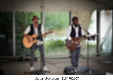 Blurred image of a group of singers