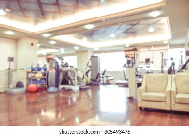 blurred image of hospital vintage style - physical therapy room