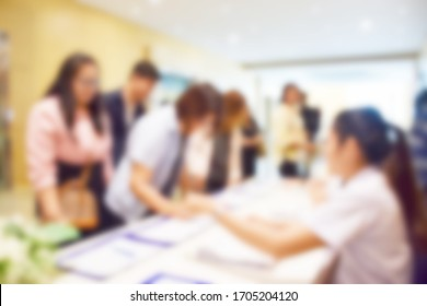 Blurred image inside the banquet room.