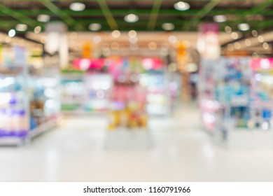 Blurred image of interior in shopping mall for background.