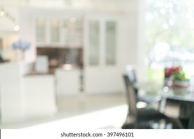 Blurred image of kitchen interior for background uses.