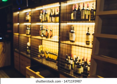 Blurred image of liquor shop for background uses.