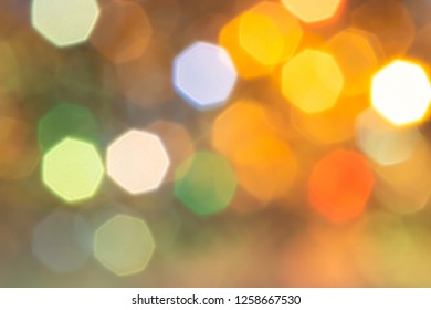Blurred image of multicolor abstract background made from ornament light