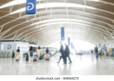Blurred image of people in the airport