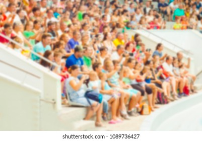 blurred image of people group or crowd