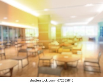 Education Concept Blurred Image Interior Background Stock Photo