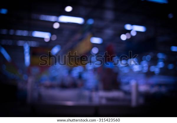 Blurred Image Shopping Mal Bokeh Blue Stock Photo (Edit Now