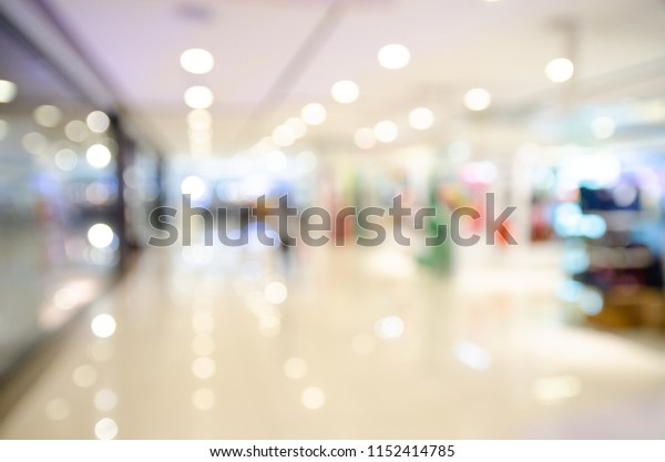 blurred image of shopping mall and people in department store,background shopping concept