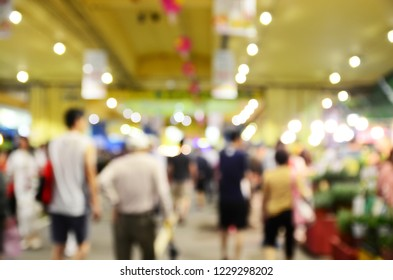 Blurred image of shopping people