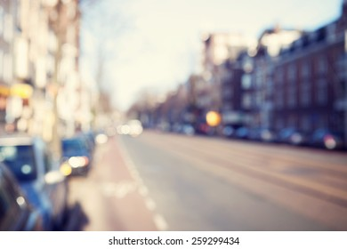 Blurred image of a street.