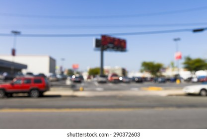 blurred image of street life in New York