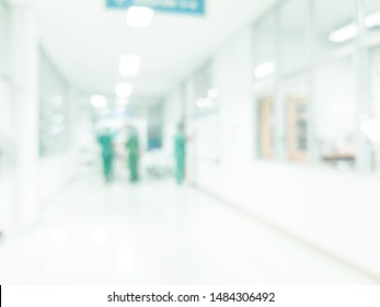 blurred image of walkway to operation in hospital for background