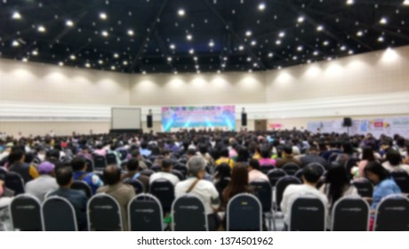 Blurred images in the meeting rooms of the cooperative members in the annual general meeting. Meeting concept