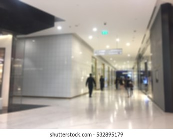 Blurred Interior of Department Store