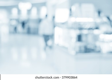 blurred interior of hospital - abstract medical background.