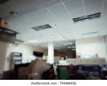 Blurred of interior office in a holiday