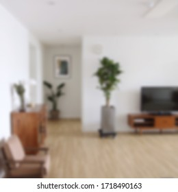 Blurred of interior a room