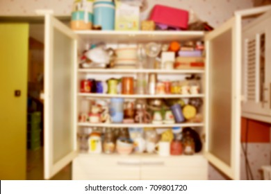 Blurred a kitchen cupboard