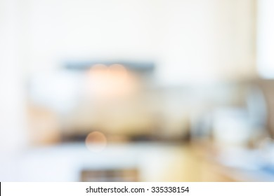 Blurred kitchen interior, can be used as background