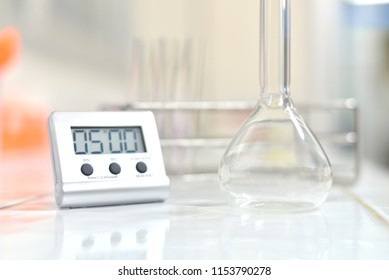 Blurred laboratory equipment medical science concept.