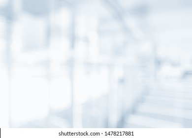 BLURRED LIGHT OFFICE BACKGROUND, MODERN BUSINESS HALL, GLASSY INTERIOR
