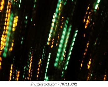 Blurred light trails on black background