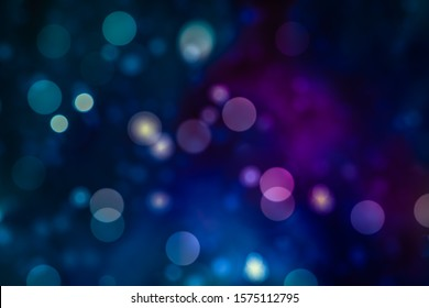 BLURRED LIGHTS BACKGROUND, GLOWING CIRCLES AT NIGHT, MAGICAL BACKDROP
