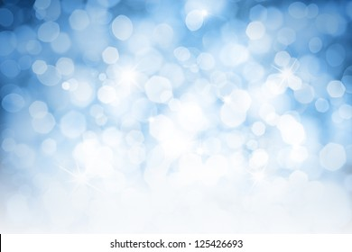 Blurred lights blue background