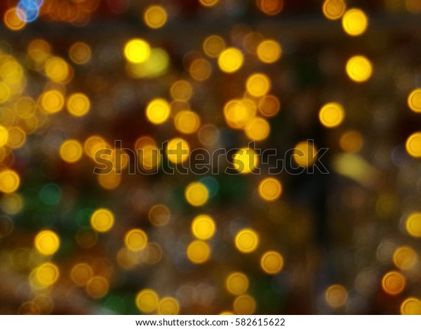 blurred lights in the market, restaurant and walkway color bokeh background