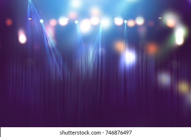 blurred lights on stage, abstract image of concert lighting