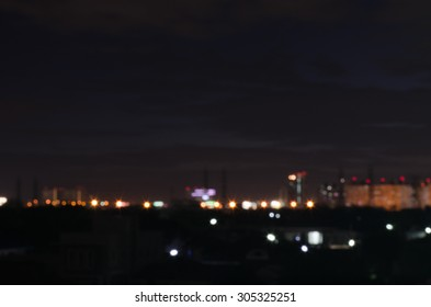 blurred lights from peak town