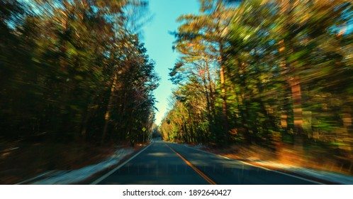 Blurred long road highway  Car,movine blurred