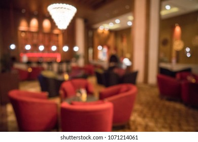 Blurred luxury night club for background