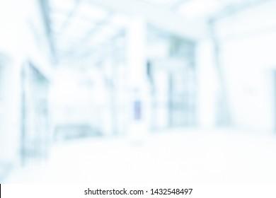 BLURRED MEDICAL BACKGROUND, MODERN HOSPITAL HALL