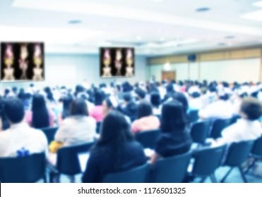 Blurred Medical Conference student,nurse, forum Meeting ,Training Learning heart disease Concept, Blurred background.
