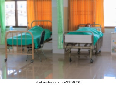 blurred Medical dummy in hospital, training Medical course education on bed and blanket green