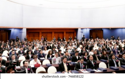 Blurred Meeting room business big hall Conference background many seminar room attendee, Rear Audience conference hall seminar meeting, Business education, Study, Learn, Learning, Cultivate investment