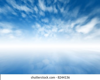 Blurred misty abstract infinite sky