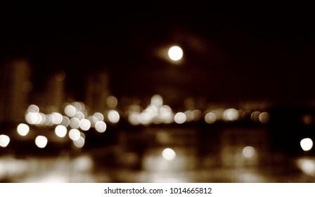 blurred moon background bokeh night