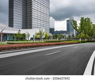 blurred motion urban road,Shanghai,China.