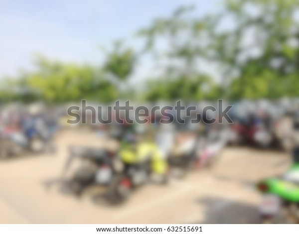 Blurred motorcycle parking for texture