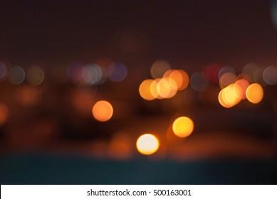 Blurred night