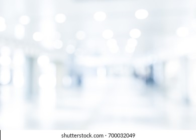 BLURRED OFFICE BACKGROUND, BLUR OF MODERN BUILDING INTERIOR