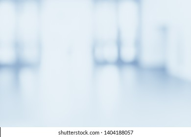 BLURRED OFFICE BACKGROUND, BLURRY HALL IN MODERN HOSPITAL INTERIOR