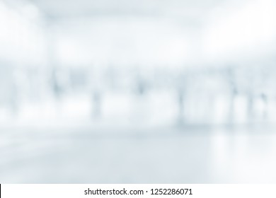 BLURRED OFFICE BACKGROUND, LARGE BUSINESS HALL