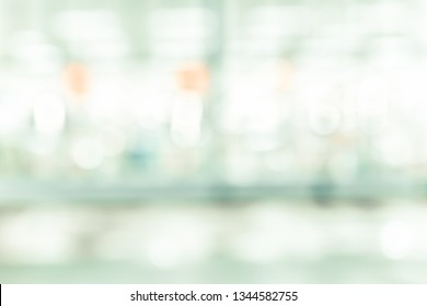 BLURRED OFFICE BACKGROUND, MODERN BUSINESS HALL, COMMERCIAL SPACE