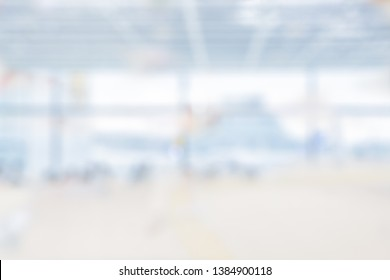 BLURRED OFFICE BACKGROUND, MODERN BUSINESS INTERIOR HALL